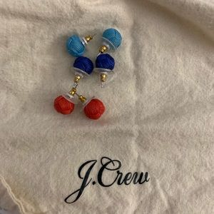 J. Crew knot stud earrings (3 pairs)